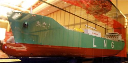 LNG船模型 液化气船模型 天然气船模型 君双供