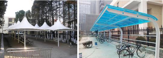 上海自行车棚定制,自行车棚