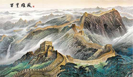 临沂山水瓷砖壁画定制 艺林瓷砖壁画供应