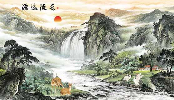 聊城山水瓷砖壁画多少钱一平方 艺林瓷砖壁画供应