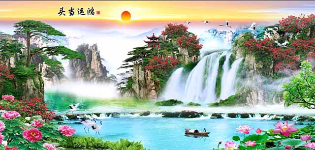 聊城手绘全瓷壁画厂家 艺林瓷砖壁画供应