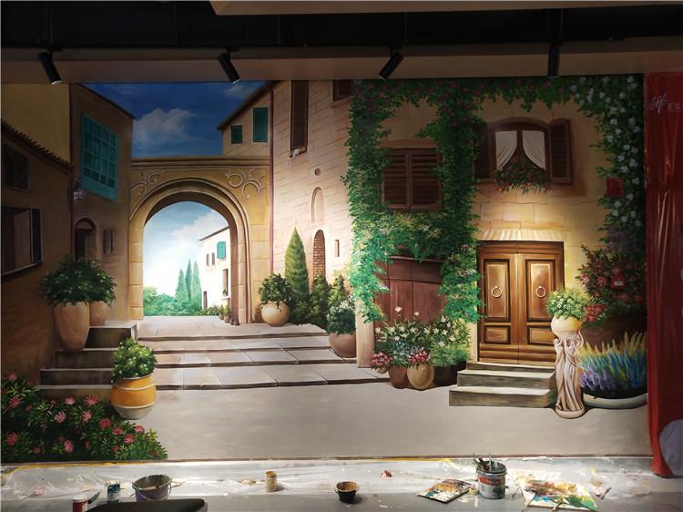 鹤壁场景彩绘公司 欢迎来电 河南文彩装饰工程供应