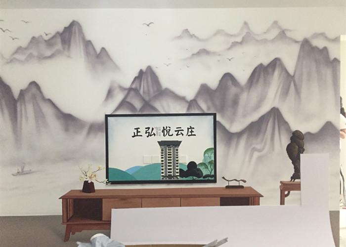 江西餐厅手绘墙公司