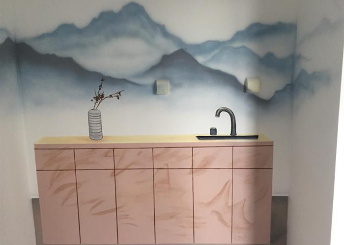 焦作餐厅手绘墙公司 值得信赖 河南文彩装饰工程供应