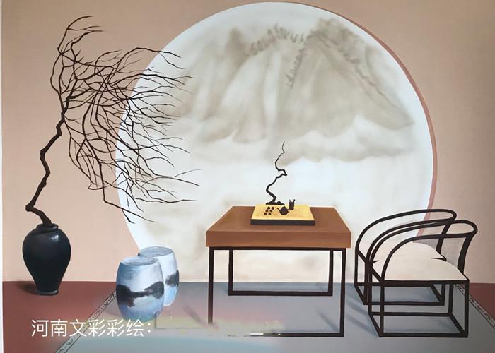 南阳家装手绘墙公司 值得信赖 河南文彩装饰工程供应