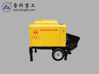 苏州农村小型混凝土输送泵厂家 诚信服务 南京鲁科重工机械供应
