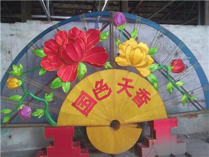 唐山丝绸花灯设计「周村友艺花灯供应」