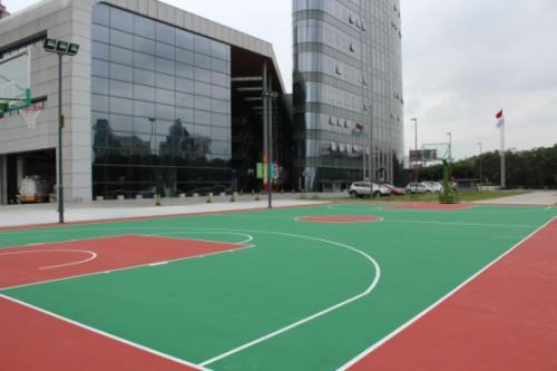 贵州口碑好硅PU篮球场报价,硅PU篮球场