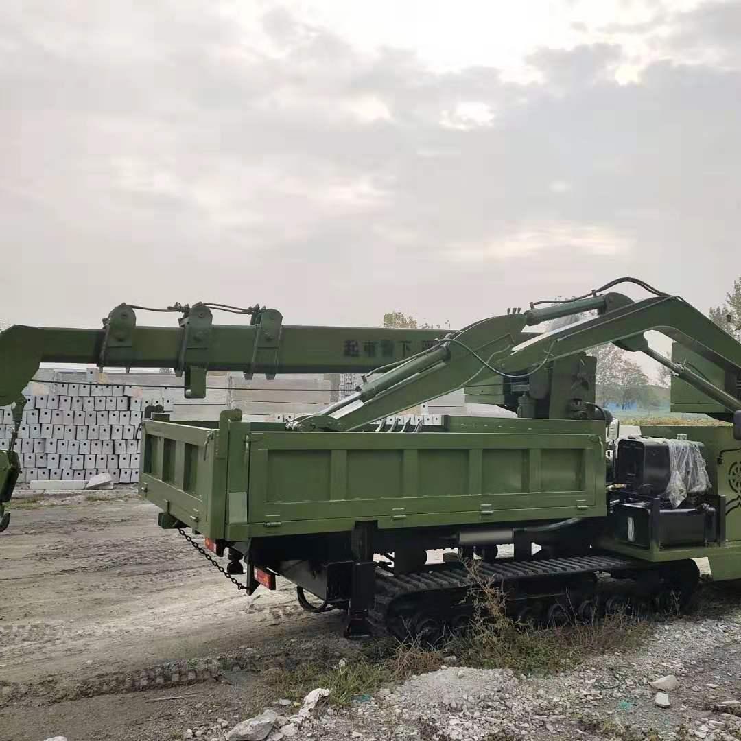 广西挖树坑吊树苗履带吊挖一体机性价比高 济宁市恒泰源工程机械供应