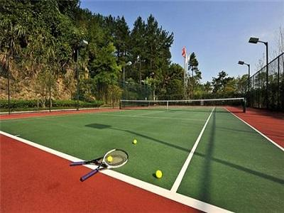 广州深圳标准硅PU网球场设计「广东省德克瑞环保涂料供应」