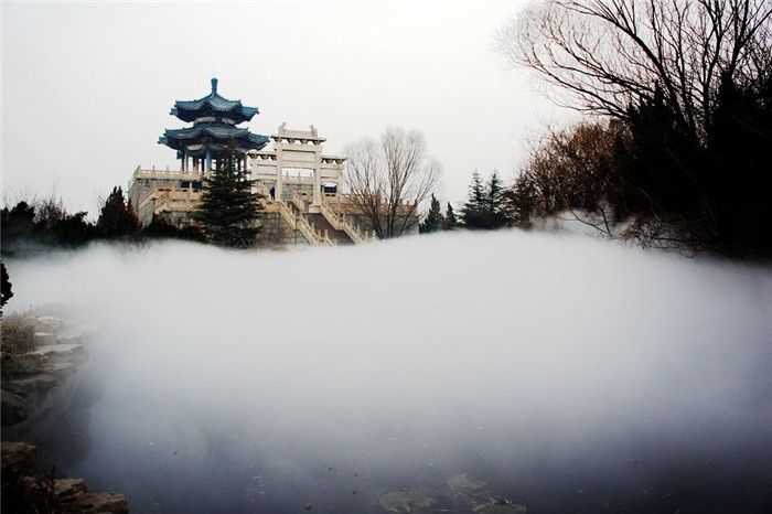 内蒙古公园人造雾设备工程 创银雾森供应
