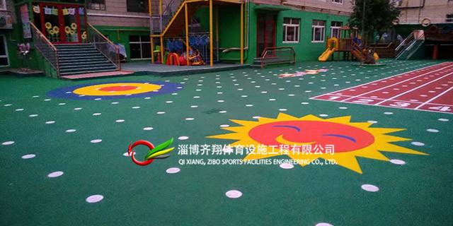 济宁篮球塑胶场地建造 齐翔体育供应