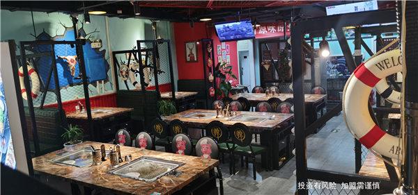 淄博新式石板烤肉圖片