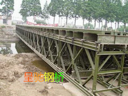 新疆三排单层贝雷片生产厂商 客户至上 江苏呈驰钢桥供应