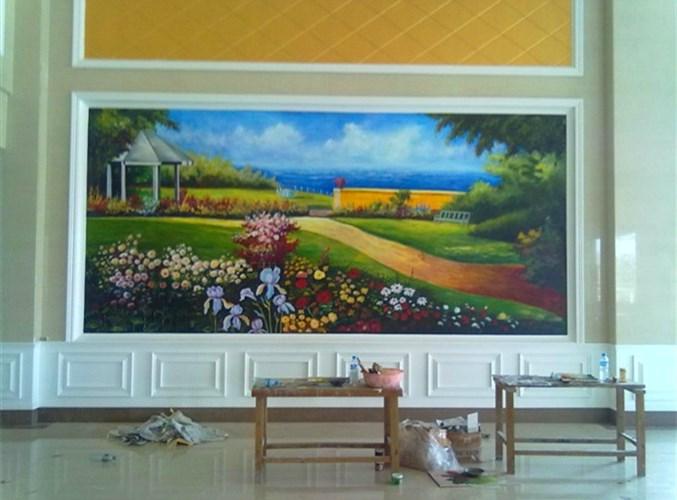 洛阳手绘电视背景墙 欢迎来电 河南文彩装饰工程供应