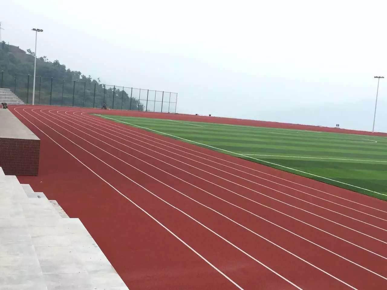 河南混合型塑胶跑道厂 福建健业体育设施工程供应