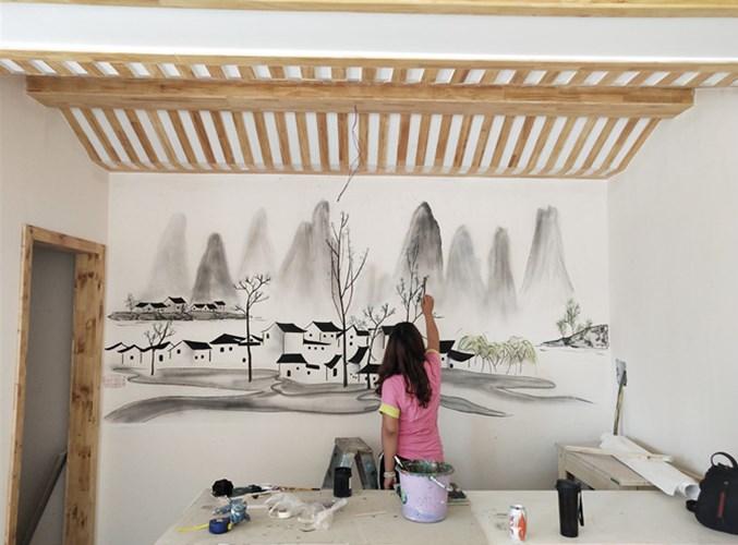 中原区酒店墙绘公司电话 欢迎来电 河南文彩装饰工程供应
