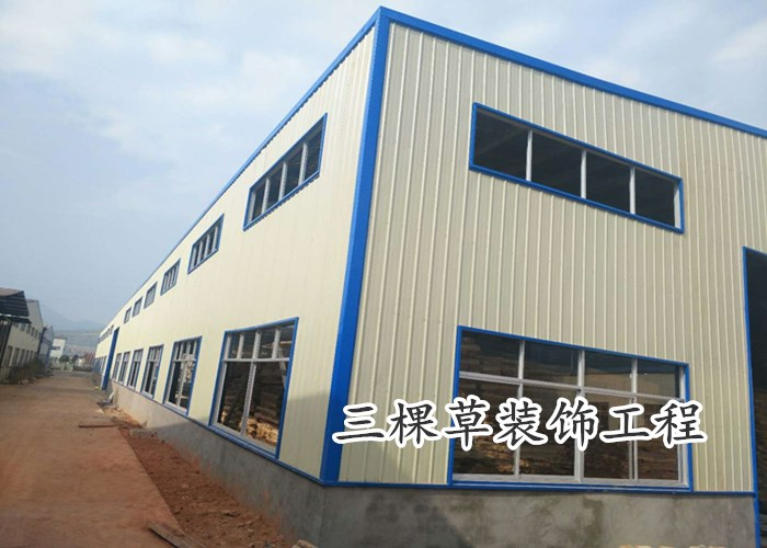 How much is one square meter of new dense duplex steel structure warehouse? Welcome to call Sankecao Decoration Engineering Supply in Henan