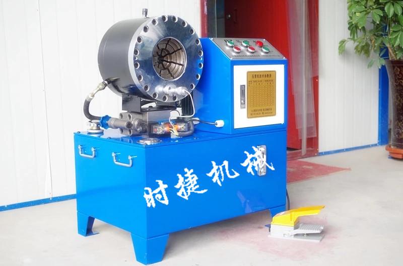 陕西小型建筑缩管机 钢管压管机 时捷供应