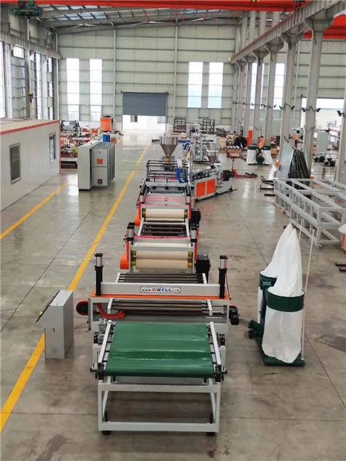 杭州新型塑料建筑模板生产线 苏州金韦尔机械供应
