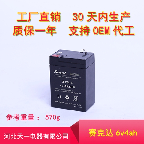 四川童車電瓶6v4 河北天一電器供應