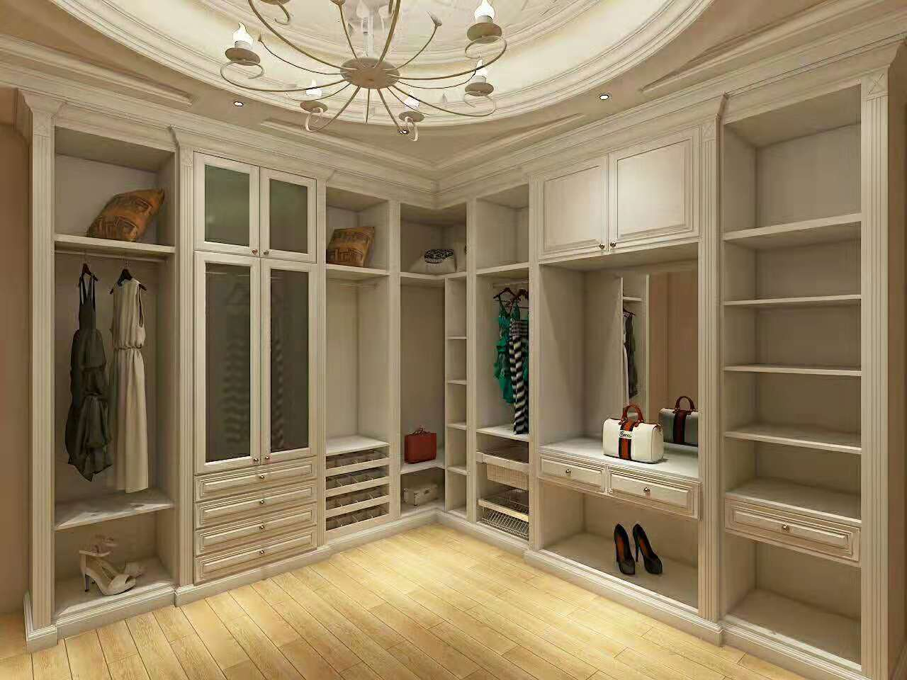 卧室半开放衣柜效果图