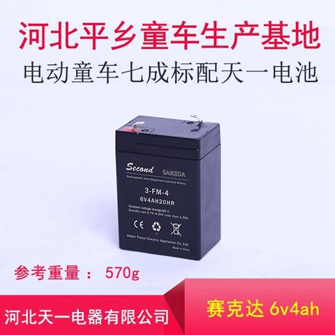 山東童車電瓶6v4ah蓄電池 河北天一電器供應