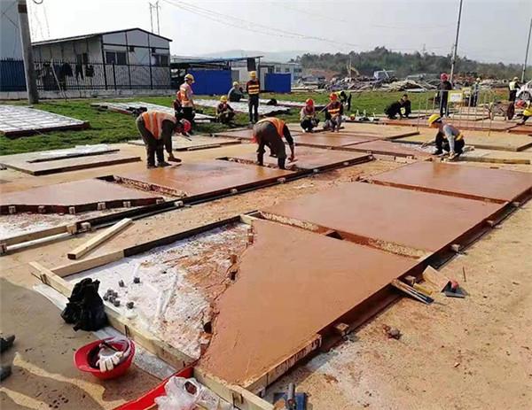 工业厂房压模地坪厂家直销 江苏路图地坪工程供应