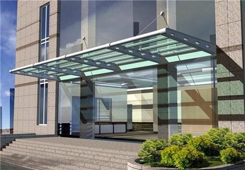 临安区玻璃雨棚安装,玻璃雨棚