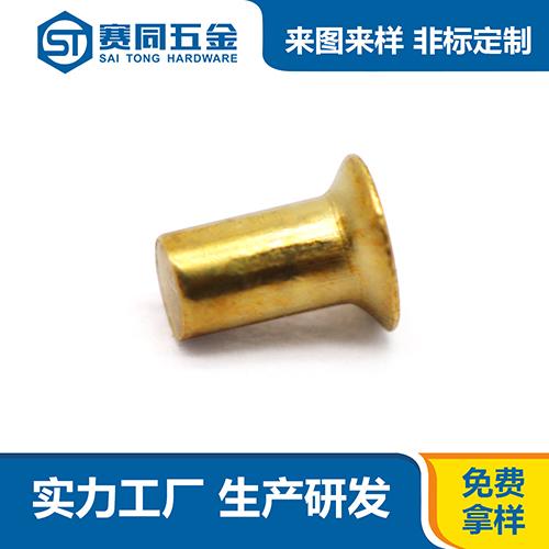 广东黄铜实心铆钉按需定制 东莞市赛同五金制品供应
