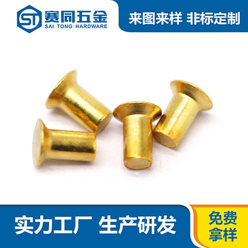 广东黄铜实心铆钉生产基地 东莞市赛同五金制品供应