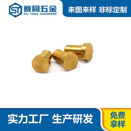 广东优良黄铜半空心铆钉子 东莞市赛同五金制品供应