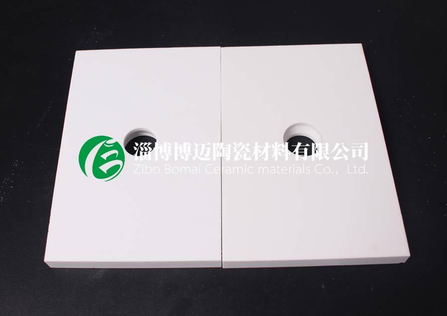 湖北排灰管道耐磨陶瓷衬片订购 淄博博迈陶瓷材料供应