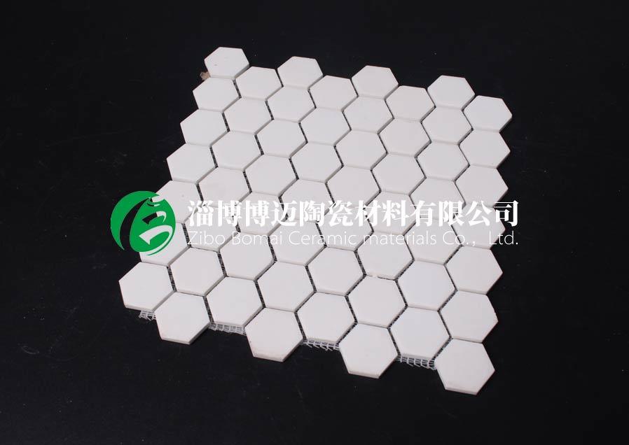 上海水泥厂旋风筒耐磨陶瓷衬片订购 淄博博迈陶瓷材料供应