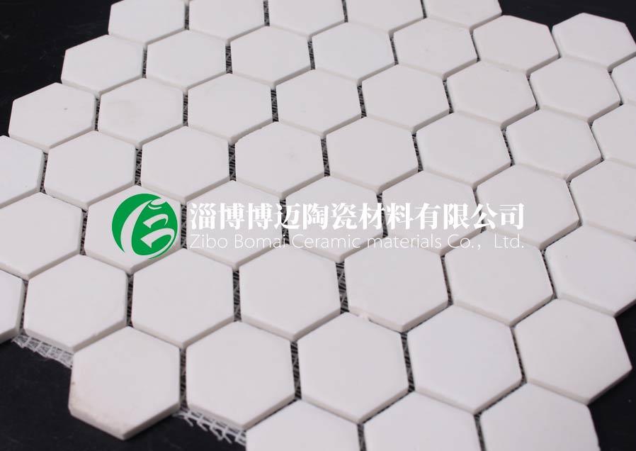 湖北水泥厂溜槽用耐磨陶瓷衬片 淄博博迈陶瓷材料供应