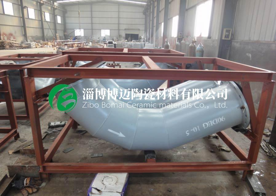四川復合耐磨陶瓷管道彎頭規格 值得信賴 淄博博邁陶瓷材料供應
