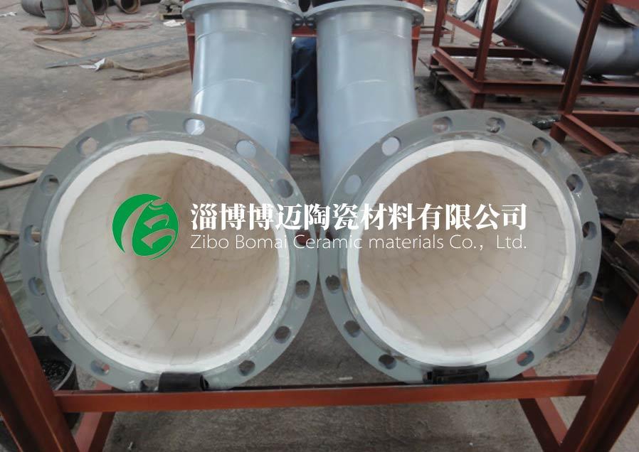 四川90度耐磨陶瓷管道弯头厂家直供 欢迎咨询 淄博博迈陶瓷材料供应