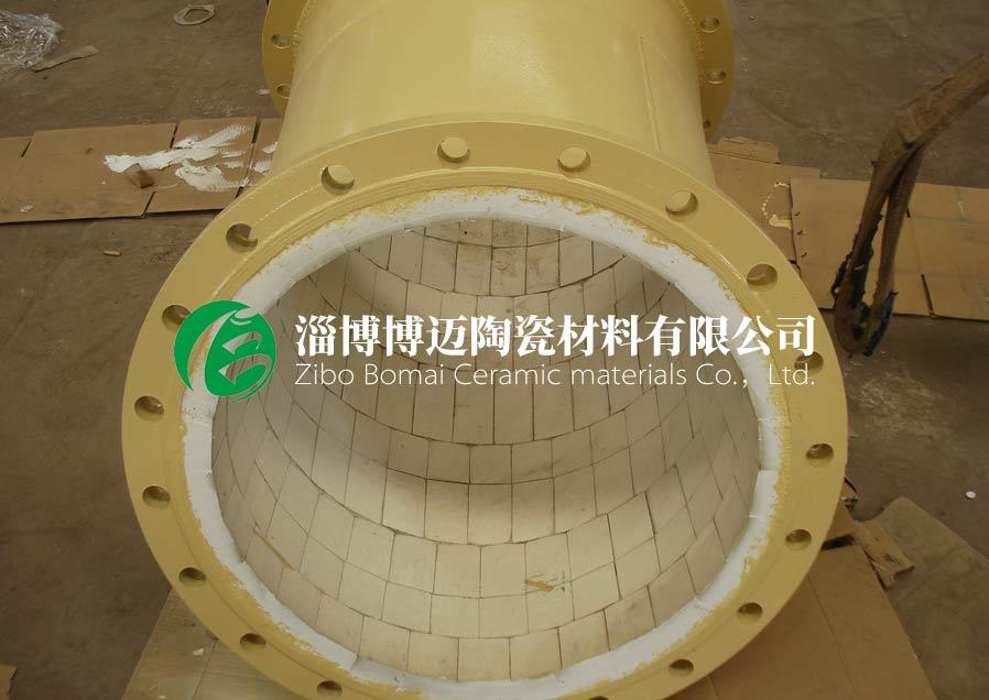 吉林高铝耐磨陶瓷管道弯头厂家电话号码 优质推荐 淄博博迈陶瓷材料供应