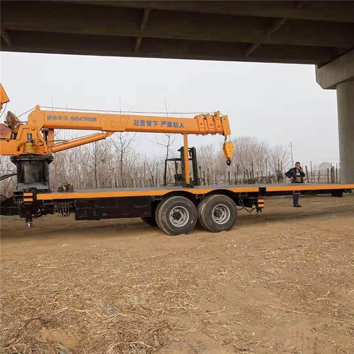 拉电线杆用拖拉机平板吊直销厂家,拖拉机平板吊