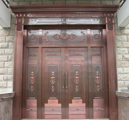 泰安单开铜门价格,铜门