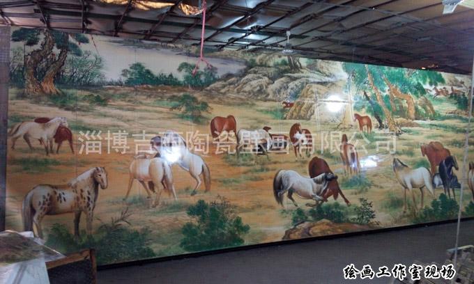 山东国土手绘壁画生产厂家 淄博吉丽陶瓷壁画供应