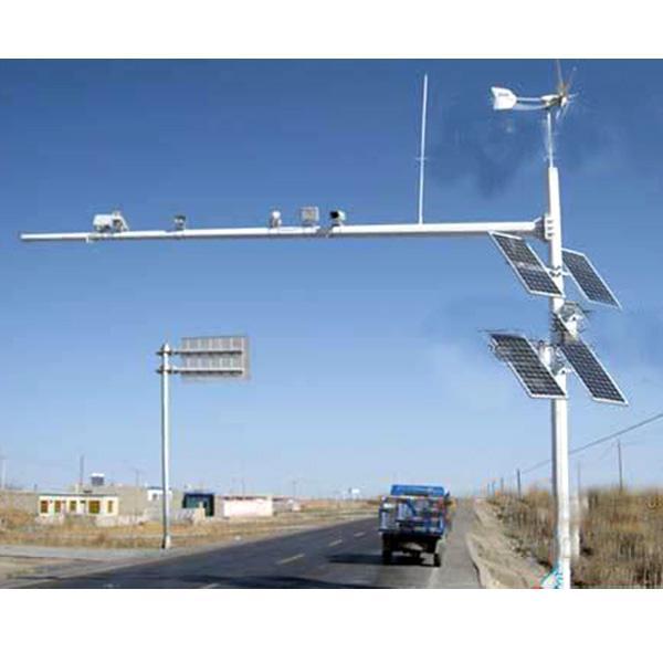 淄博通用太阳能监控杆直销 山东图景照明工程供应