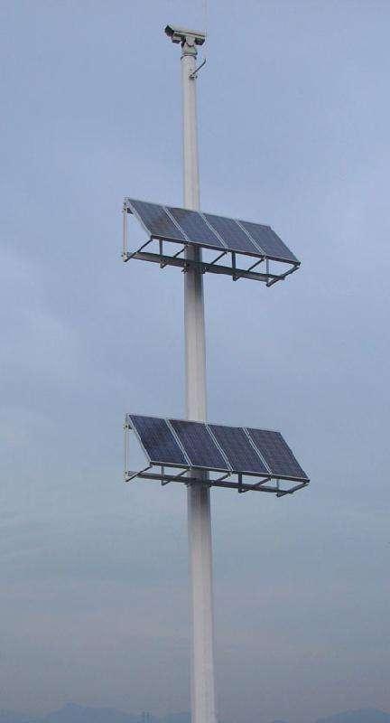定西文化定制太阳能监控杆直销 山东图景照明工程供应