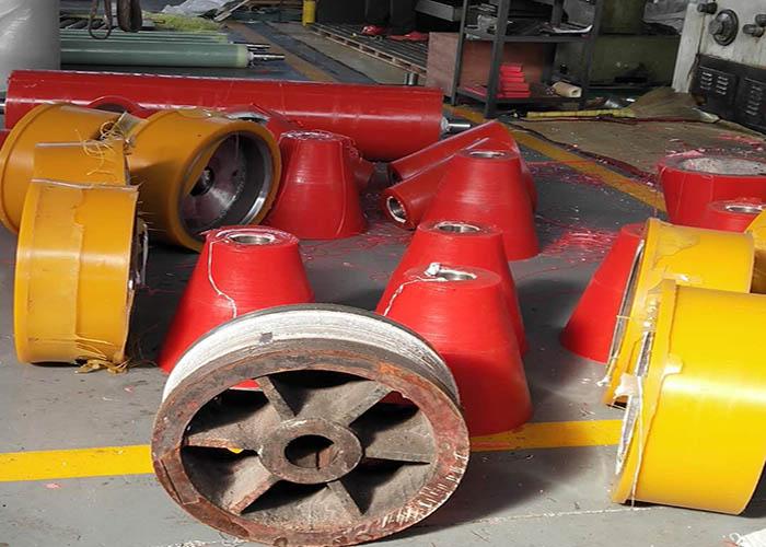 济宁焊接滚轮架胶轮价格 康杰供