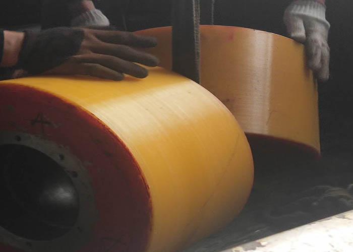 烟台焊接滚轮架胶轮厂家 康杰供