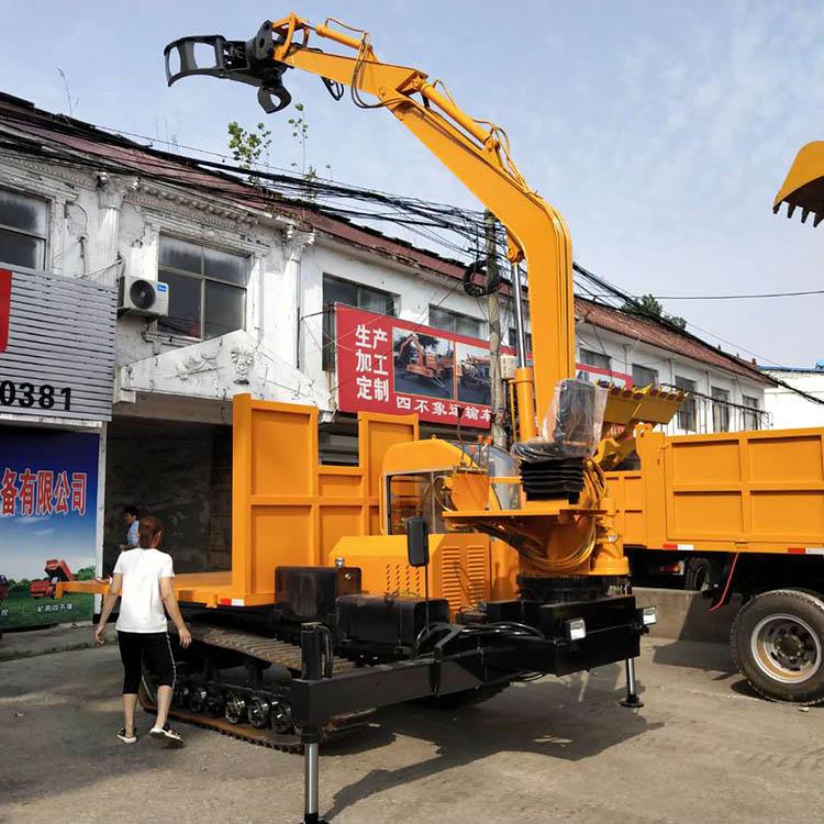 贵州山区运木头履带抓木机山地爬坡自卸车 济宁久征工程机械供应