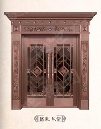 长宁区玻璃铜艺门制造,玻璃铜艺门