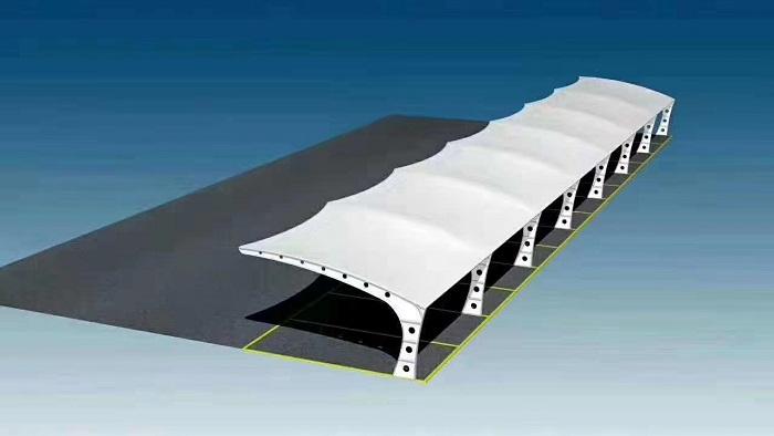 广东设计平顶式车棚服务,平顶式车棚