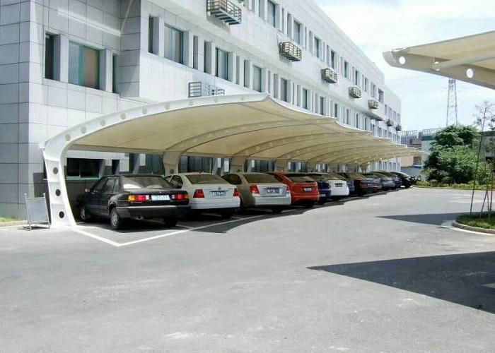 合肥优质平顶式车棚报价,平顶式车棚