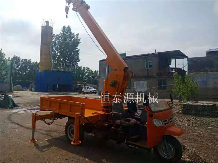 甘肃农用吊石棺用三轮随车吊 服务至上 济宁市恒泰源工程机械供应